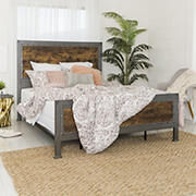 W. Trends Queen-Size Industrial Bed