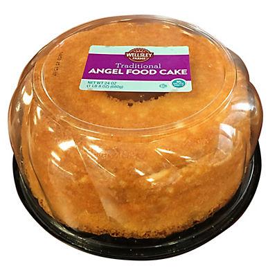 Wellsley Farms Traditional Angel Food Cake, 24 oz.