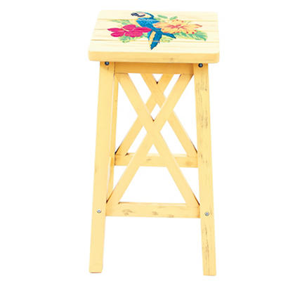 Rio Parrot Wood Barstool