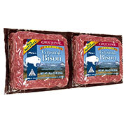 Great Range Ground Bison, 90% Lean, 2 pk./1 lb. each