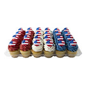 Large Red, White and Blue Cupcakes, 24 ct.