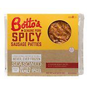 Botto's Spicy Italian Sausage Patties, 4.5 lbs.
