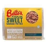 Botto's Sweet Italian Sausage Patties, 4.5 lbs.