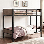 W. Trends Rustic Twin-Size Wood Bunk Bed - Brown