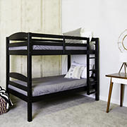 W. Trends Twin-Size Solid Wood Bunk Bed - Black
