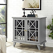 "W. Trends Gwen 32"" Accent Console - Gray"