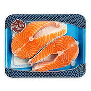 Wellsley Farms Fresh Salmon Steaks, 1.25-1.75 lb