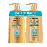 L'Oreal Extraordinary Oil Shampoo, 33.8 fl. oz. and Conditioner, 33.8 fl. oz.