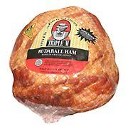 Triple M Budaball Bone-In Skinless Shankless Ham, 14-18 lbs.