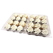 Wellsley Farms White Iced Mini Cupcakes, 24 ct.