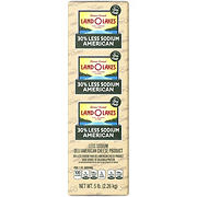 Land O'Lakes 30% Less Sodium American Sliced Deli Cheese with Sea Salt, 0.75-1.25 lb (Standard Cut)