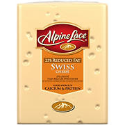 Alpine Lace 25% Reduced Fat Swiss Sliced Deli Cheese, 0.75-1.25 lb (Standard Cut)