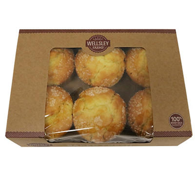 Wellsley Farms Lemon Flavored Muffins, 6 ct./6 oz.
