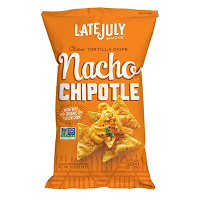 Late July Chipotle Nacho Tortilla Chips, 15.5 oz.