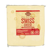 Wellsley Farms All-Natural Swiss Cheese, 0.75-1.25 lb Standard Cut