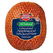 All-Natural Uncured Applewood Smoked Ham, 0.75-1.25 lb Standard Cut