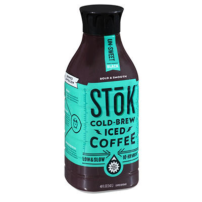 Stok Un-Sweet Black Cold-Brew Iced Coffee, 48 fl. oz.