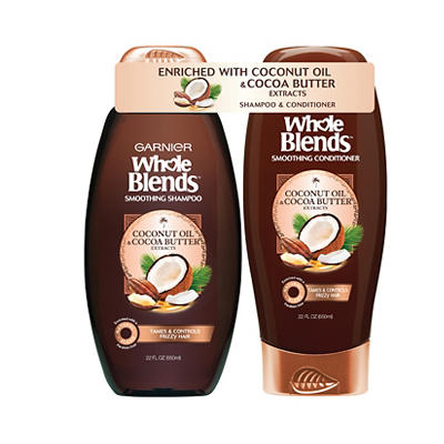 Garnier Whole Blends Coconut Oil & Cocoa Butter Shampoo, 22 fl. oz. an