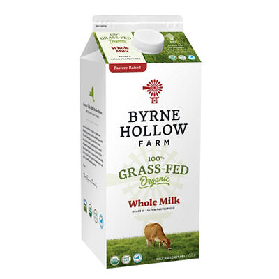 Byrne Hollow Farm 100% Grass-Fed Organic Whole Milk, 64 oz.