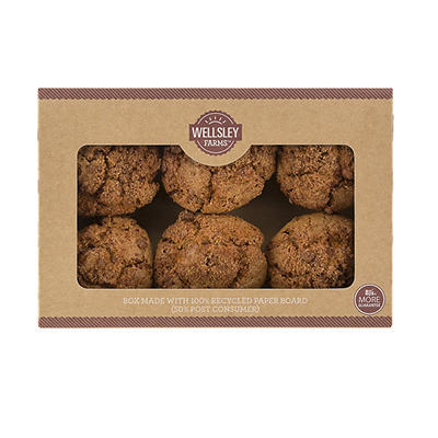 Wellsley Farms Coffee Cake Cinnamon Muffins, 6 ct./6 oz.