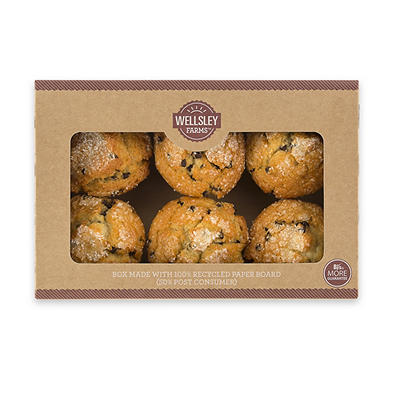 Wellsley Farms Chocolate Chip Muffins, 6 ct./6 oz.
