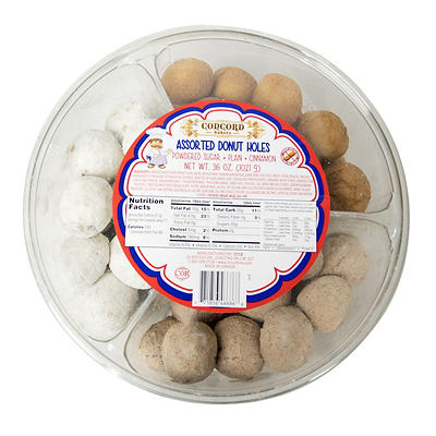 Concord Bakery Assorted Donut Holes, 36 oz.