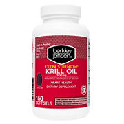 Berkley Jensen Extra Strength Krill Oil Softgels 150 ct.