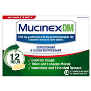 Mucinex DM Maximum Strength Expectorant and Cough Suppressant, 48 ct.