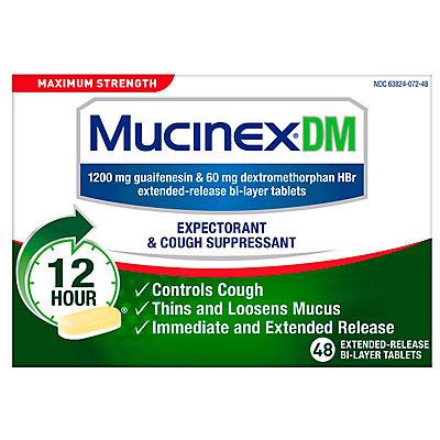 Mucinex DM Maximum Strength Expectorant and Cough Suppressant, 48 ct.