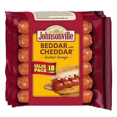 Johnsonville Beddar with Cheddar Smoked Sausage, 18 ct.