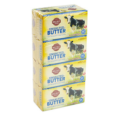 Wellsley Farms Unsalted Butter Quarters, 4 ct./1 lb.