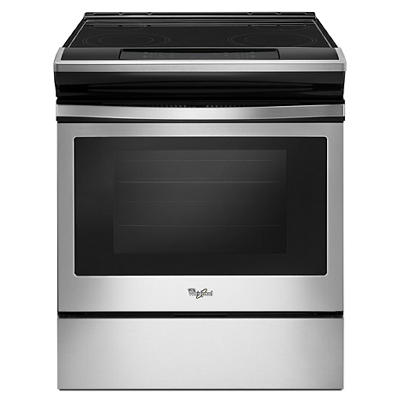 Whirlpool 4.8-Cu.-Ft. Guided Electric Front-Control Range - Black-on-S