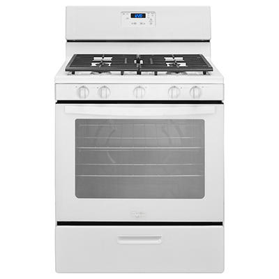 Whirlpool 5.1-Cu.-Ft. Freestanding Gas Range with 5 Burners - White
