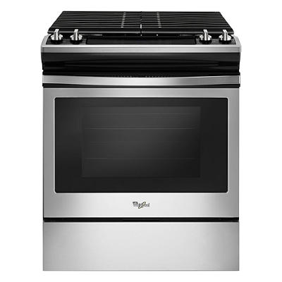 Whirlpool 5.0-Cu.-Ft. Front-Control Gas Range with Cast-Iron Grates -