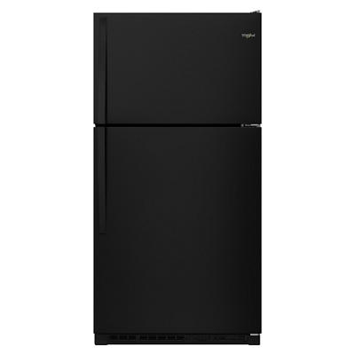 Whirlpool 20.5-Cu.-Ft. Top-Freezer Refrigerator - Black