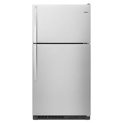 Whirlpool 20.5-Cu.-Ft. Top-Freezer Refrigerator - Stainless Steel