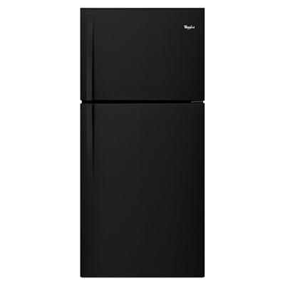 Whirlpool 19.2-Cu.-Ft. Top-Freezer Refrigerator - Black