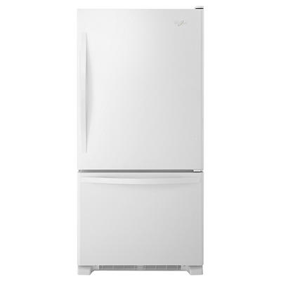 Whirlpool 22-Cu.-Ft. Bottom-Freezer Refrigerator with SpillGuard Glass Shelves - White-on-White