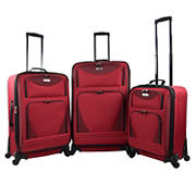 Travelers Club Sky-View 2.0 3-Pc. Expandable Spinner Luggage Set - Red