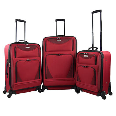 Travelers Club Sky-View 2.0 3-Pc. Expandable Luggage Set - Red