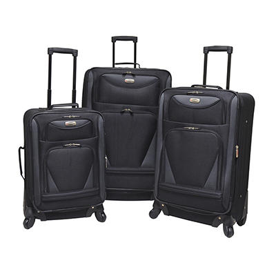 Travelers Club Sky-View 2.0 3-Pc. Expandable Luggage Set - Black