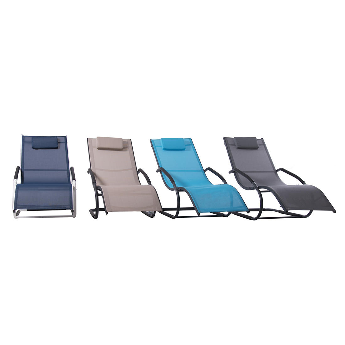 Astonishing Vivere Wave Lounger Ocean Blue Squirreltailoven Fun Painted Chair Ideas Images Squirreltailovenorg