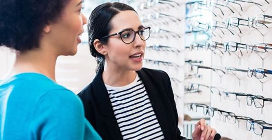 two women in the BJ's Optical