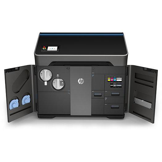 HP's new Jet Fusion 300/500 printer features an innovative integrated material handling system for ease of use and more compact size