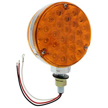 2763 - Round Amber LED Warning Lamp