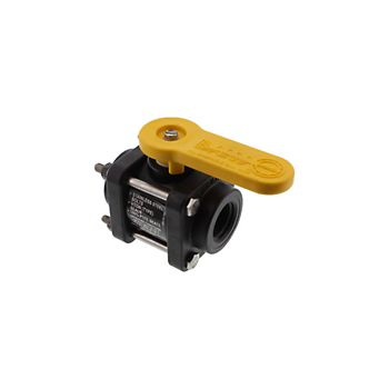 502202 - V075 4 Bolt Poly Ball Valve