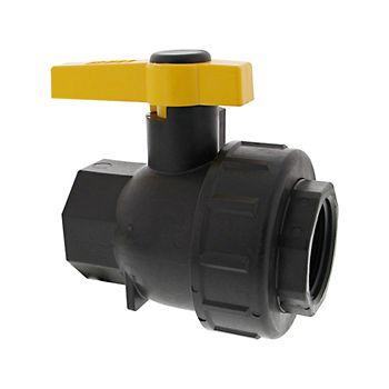 Single Union Poly Ball Valve