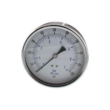"4-1/2"" Dry Pressure Gauge 0-100 psi"