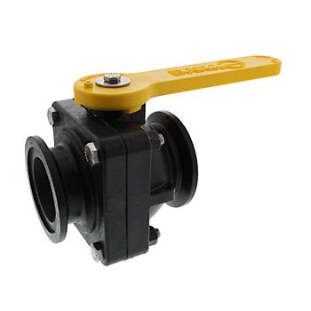 503744 - Flanged Stubby Poly Ball Valve