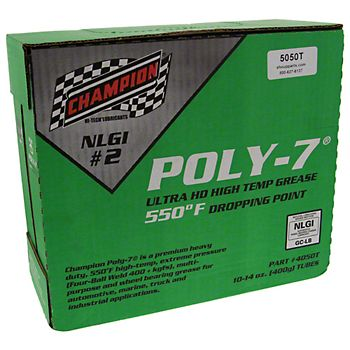 5050T - Champion Poly-7 Hi-Temp Grease - Case of 10